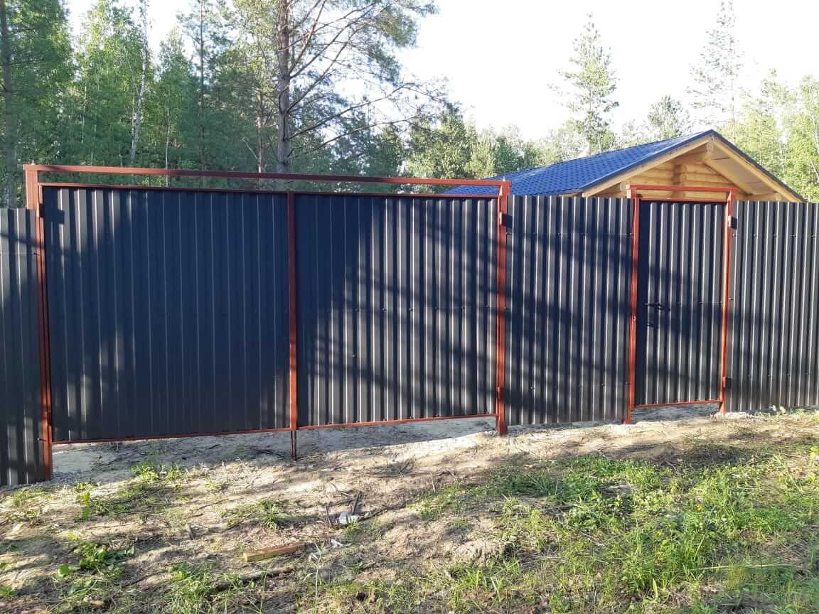 Две калитки в рамке без врезного замка и ворота в рамке, Воскресенск, СНТ Хорлово