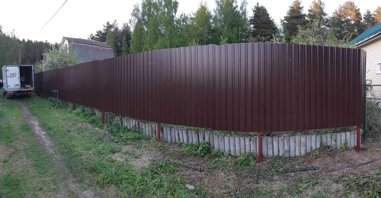 Забор из профлиста, Воскресенский район, СНТ Химик-3