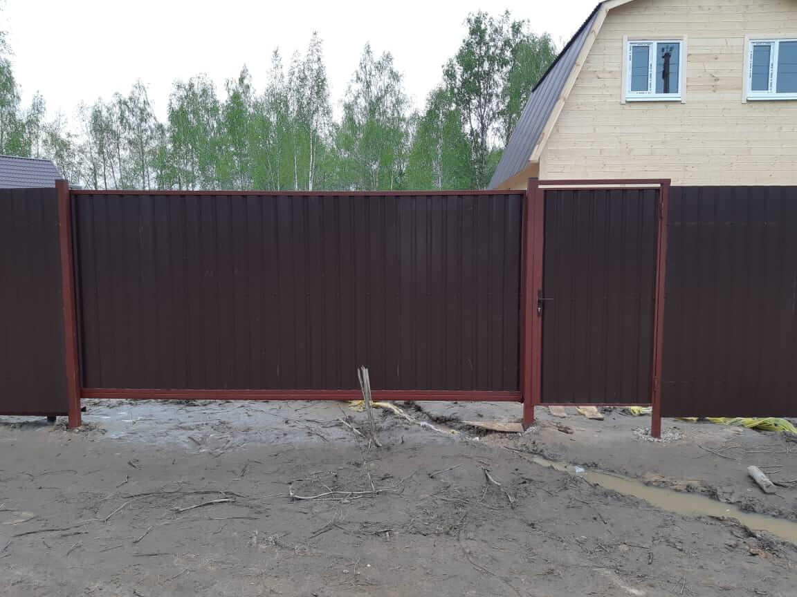 Забор, откатные ворота, калитка, Воскресенский район, Фосфоритный