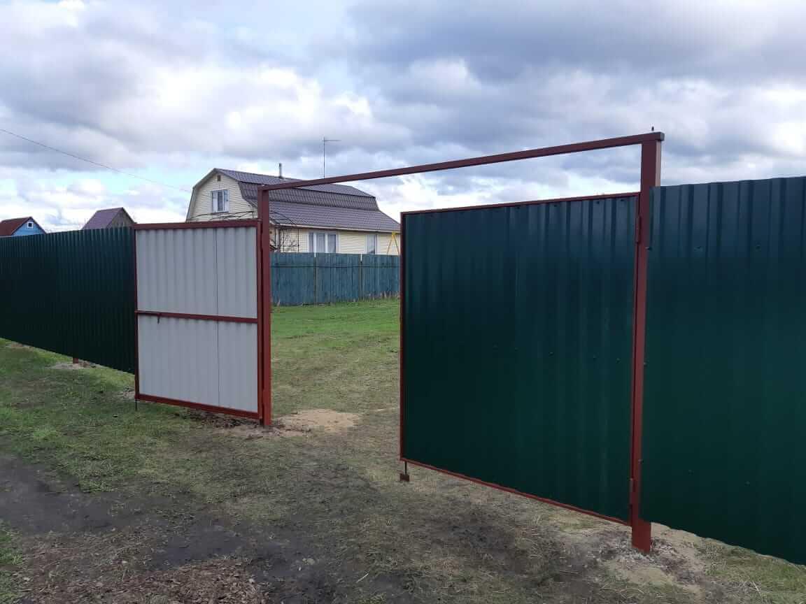 Забор, ворота из профлиста, Егорьевский район